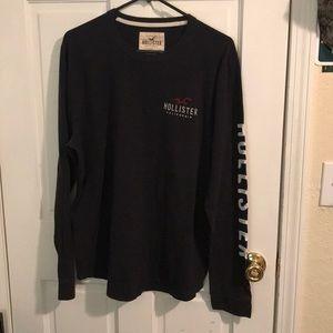 Hollister black long sleeve t shirt XL